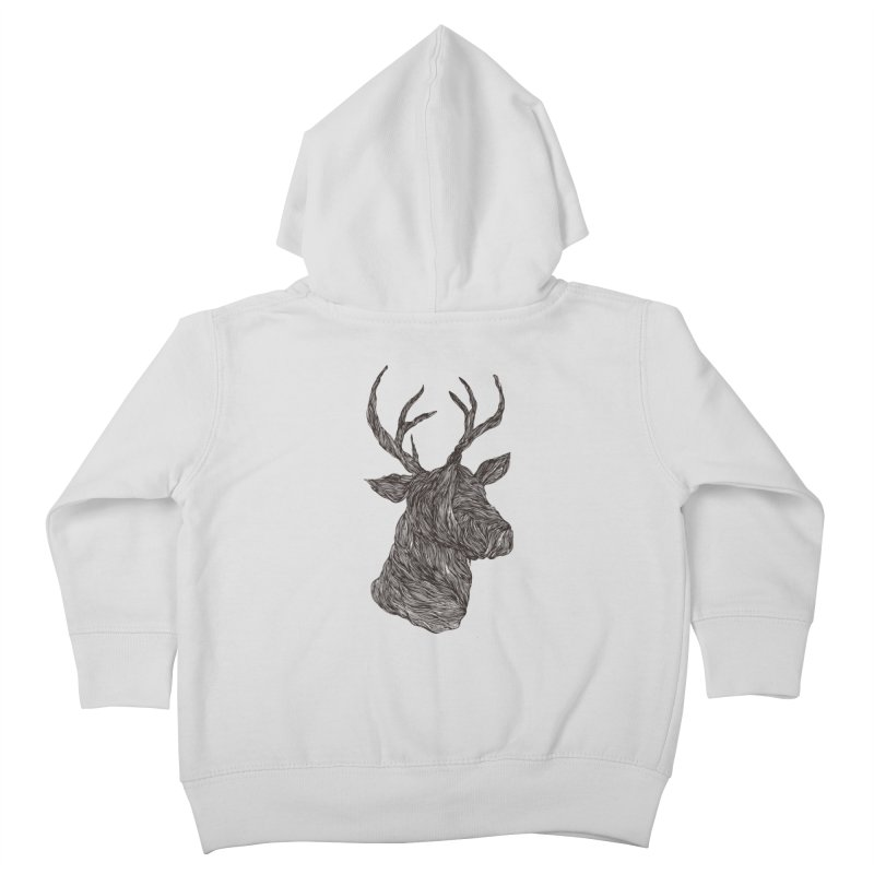 Wire deer Kids Toddler Zip-Up Hoody by Loremnzo's Artist Shop