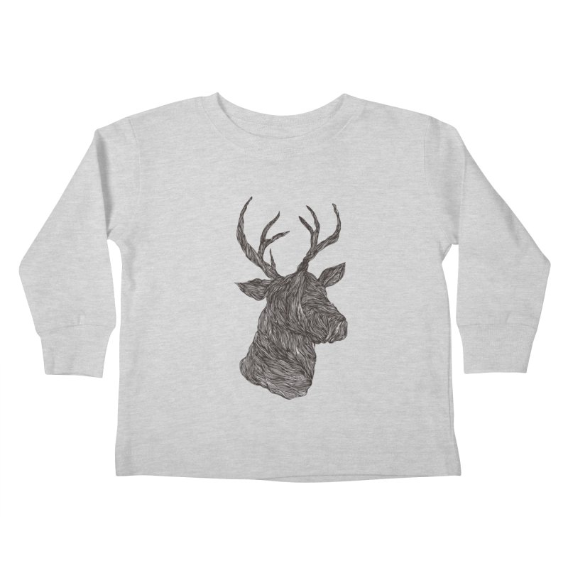 Wire deer Kids Toddler Longsleeve T-Shirt by Loremnzo's Artist Shop