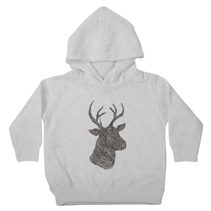 Wire deer Kids Toddler Pullover Hoody by Loremnzo's Artist Shop