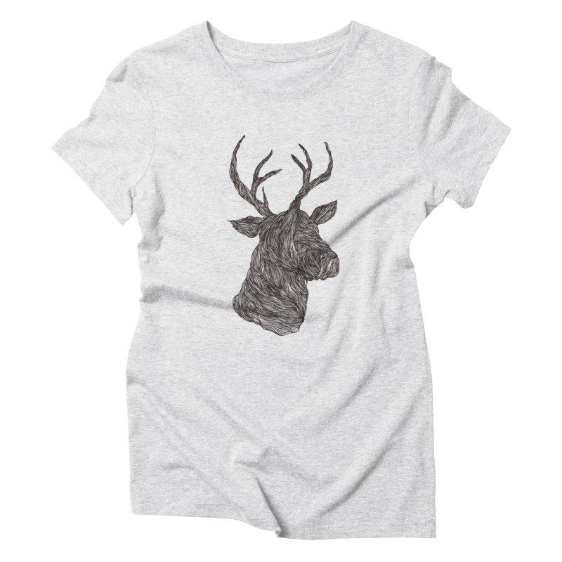 Wire deer Women's Triblend T-shirt by Loremnzo's Artist Shop