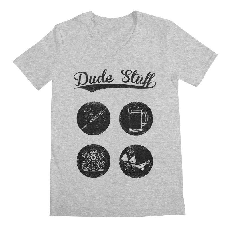 Dude's stuff Men's V-Neck by Loremnzo's Artist Shop