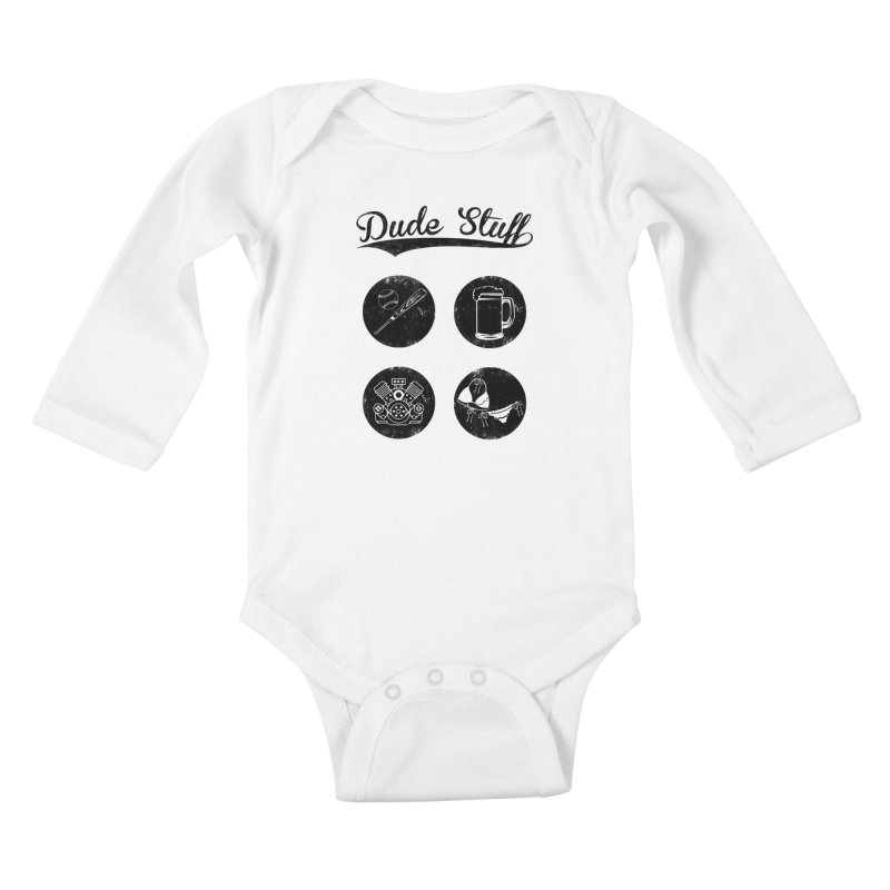 Dude's stuff Kids Baby Longsleeve Bodysuit by Loremnzo's Artist Shop