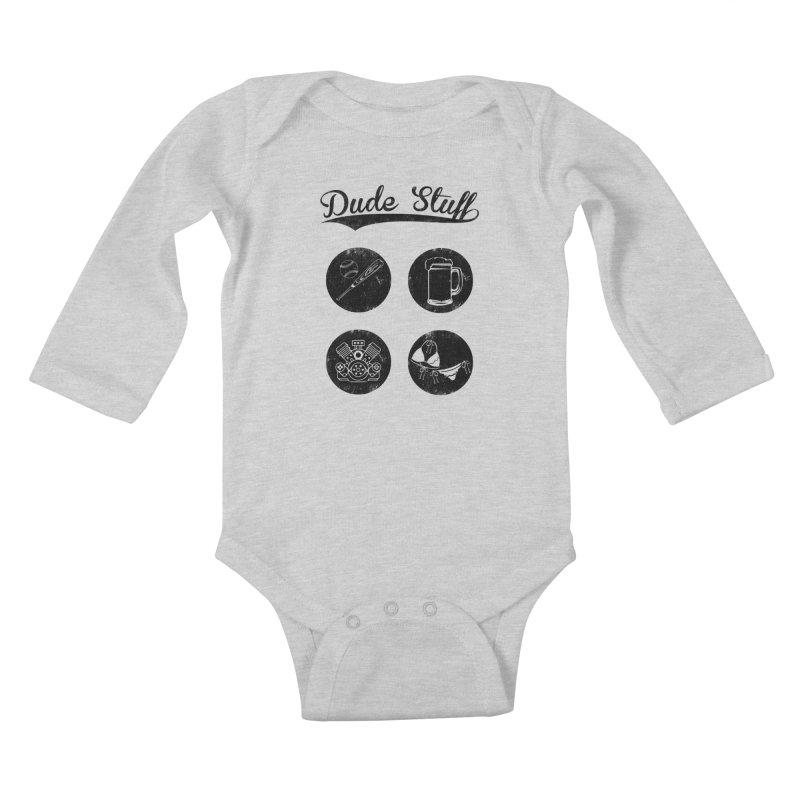 Dude's stuff Kids Baby Longsleeve Bodysuit by Loremnzo's Artist Shop