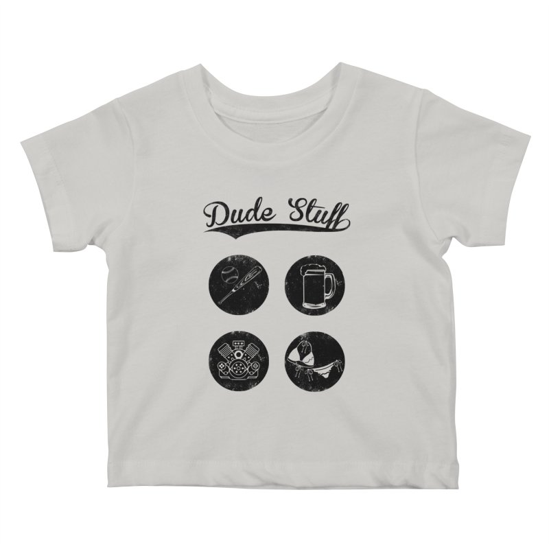 Dude's stuff Kids Baby T-Shirt by Loremnzo's Artist Shop