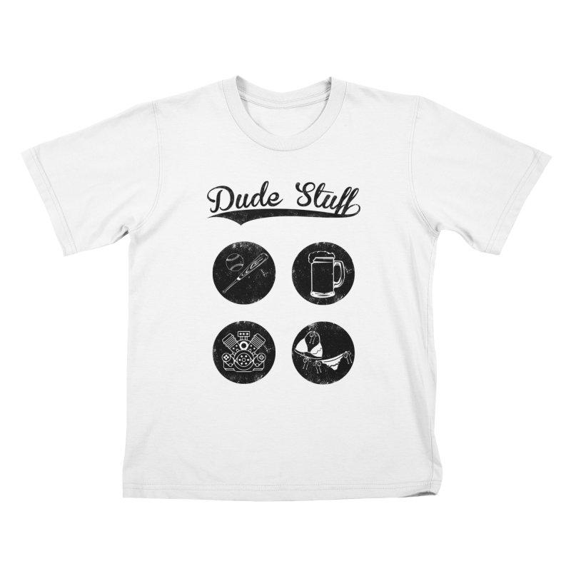 Dude's stuff Kids T-shirt by Loremnzo's Artist Shop