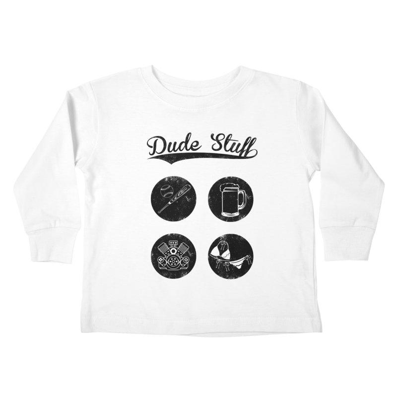 Dude's stuff Kids Toddler Longsleeve T-Shirt by Loremnzo's Artist Shop