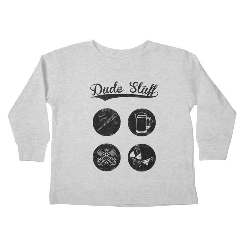 Dude's stuff Kids Toddler Longsleeve T-Shirt by Loremnzo's Artist Shop
