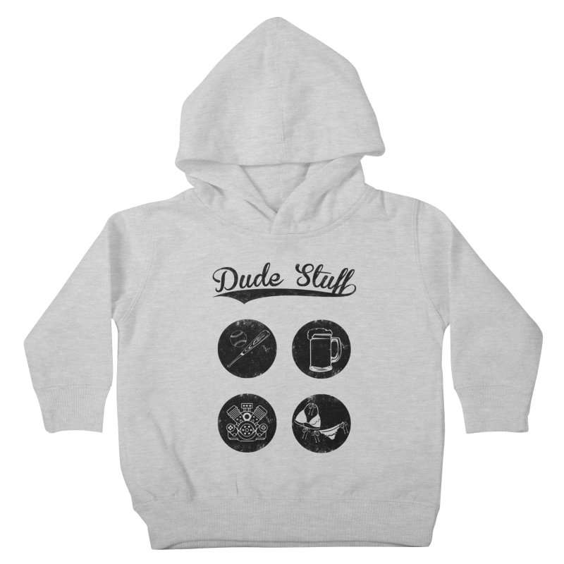 Dude's stuff Kids Toddler Pullover Hoody by Loremnzo's Artist Shop