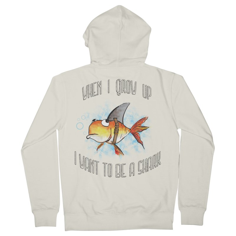 I want to be a shark Men's Zip-Up Hoody by Loremnzo's Artist Shop