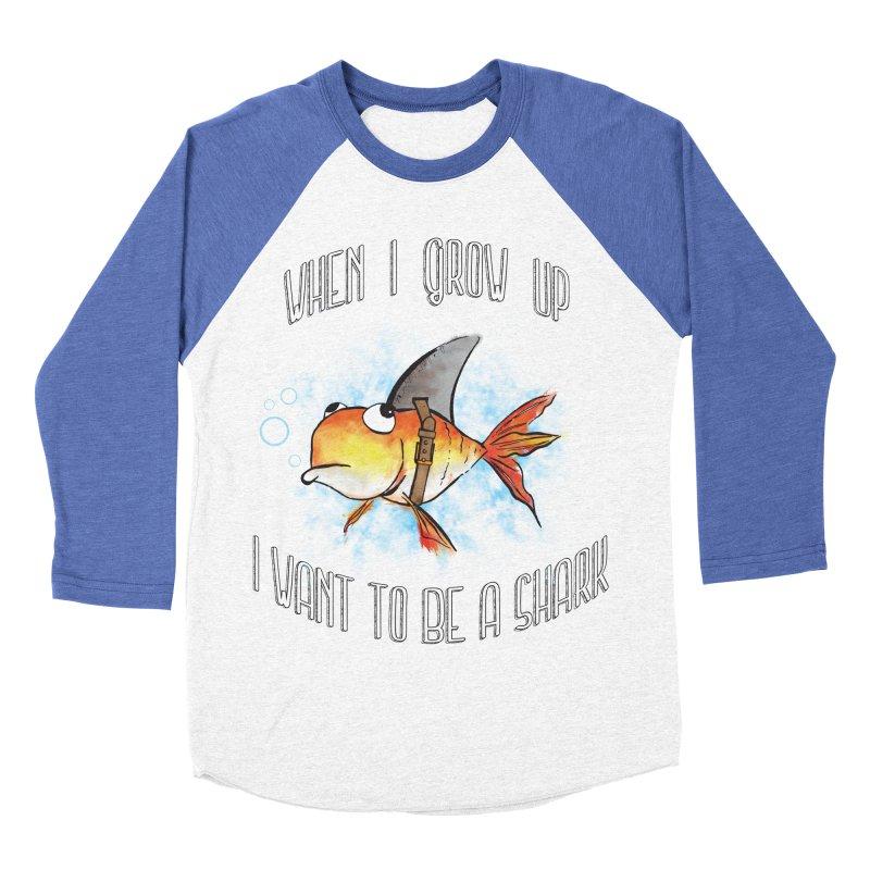 I want to be a shark Men's Baseball Triblend T-Shirt by Loremnzo's Artist Shop