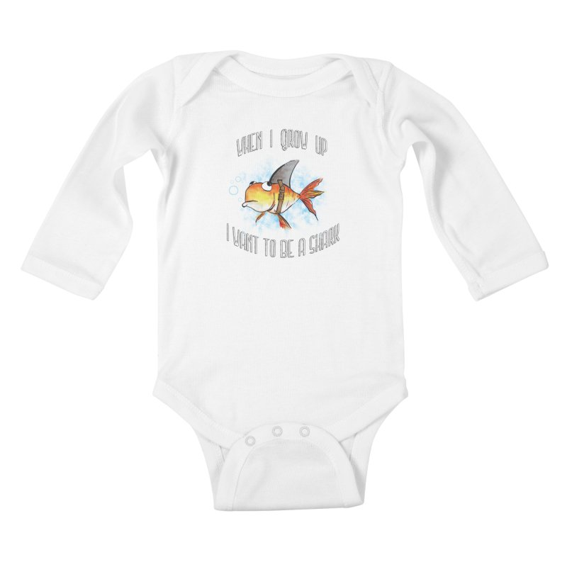 I want to be a shark Kids Baby Longsleeve Bodysuit by Loremnzo's Artist Shop