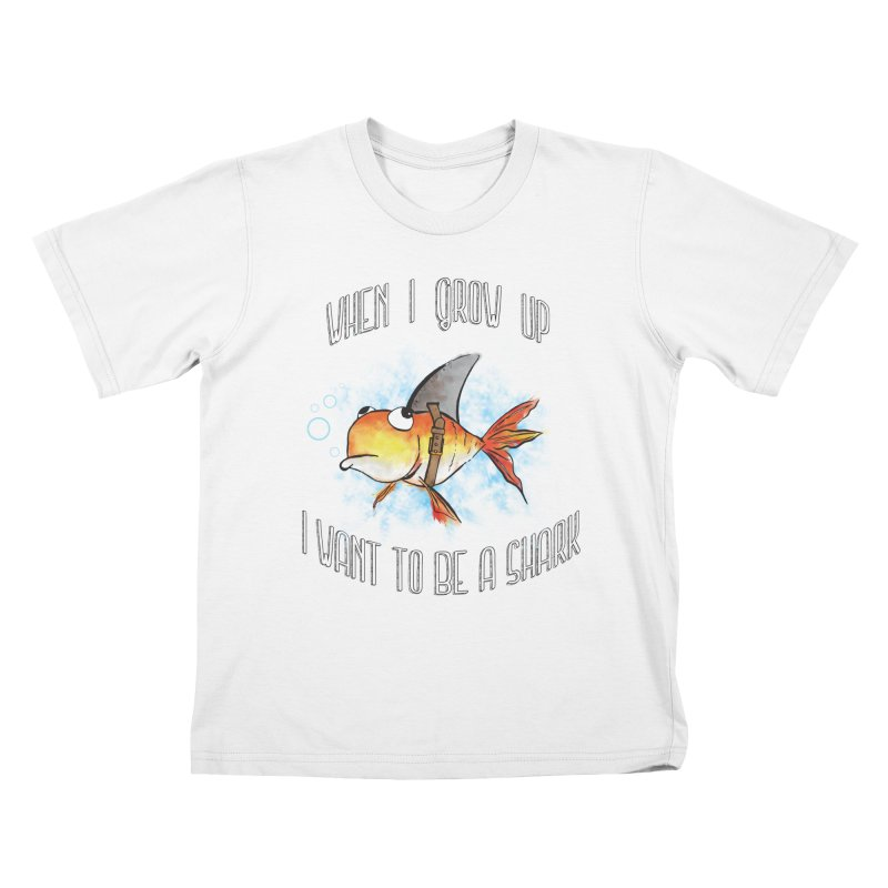 I want to be a shark Kids T-shirt by Loremnzo's Artist Shop