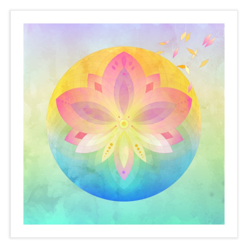 Lotus Flower in Fine Art Print by Lostefx's Artist Shop