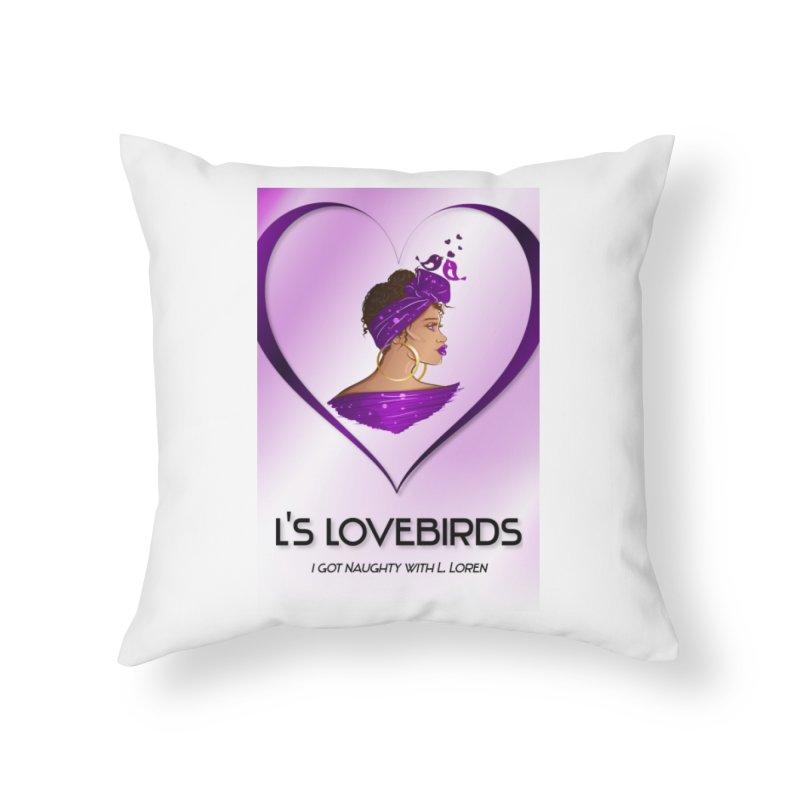 Lovebirds Merch Home Throw Pillow by Loverotica's Artist Shop