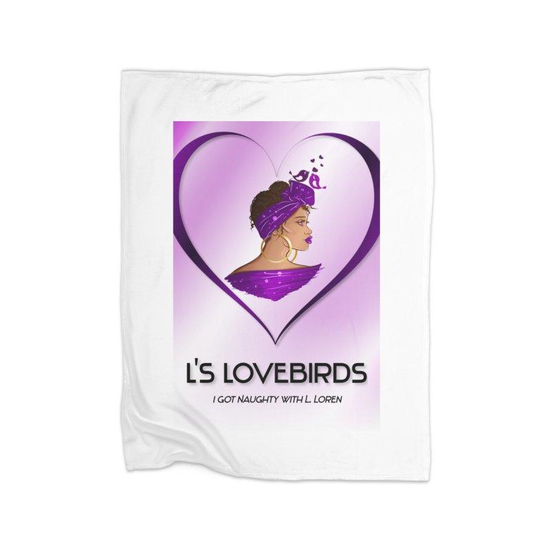 Lovebirds Merch Home Blanket by Loverotica's Artist Shop