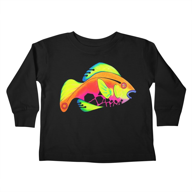 Fishy! Kids Toddler Longsleeve T-Shirt by 7thSin Apparel