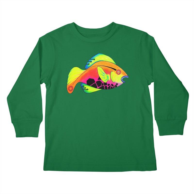 Fishy! Kids Longsleeve T-Shirt by 7thSin Apparel