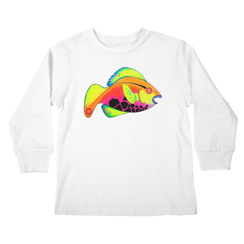 Fishy! Kids Longsleeve T-Shirt by 7thSin Apparel