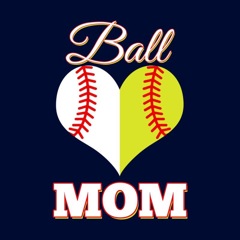 0585fb7e5 Funny Softball Mom T-Shirt Ball Mom Softball Baseball Tee Women's V-Neck by