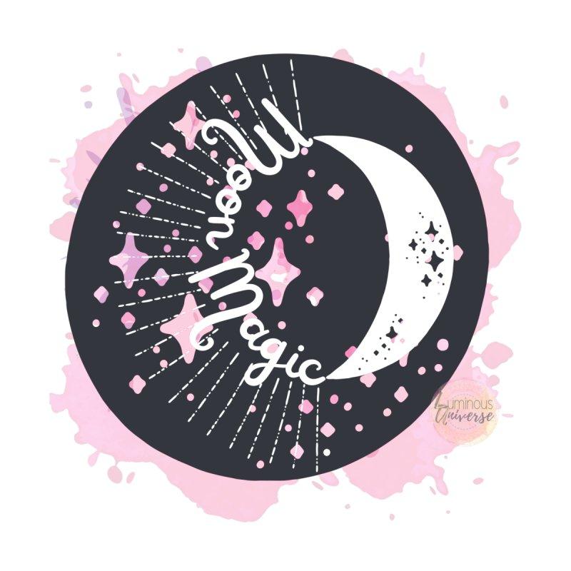 Moon Magic (black & white) Unisex/Women's T-Shirt by Luminous Universe Artist Shop