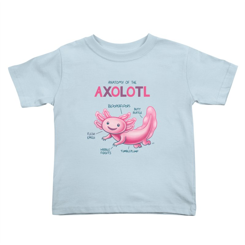 Anatomy of the Axolotl Kids Toddler T-Shirt by Lupi Art + Illustration