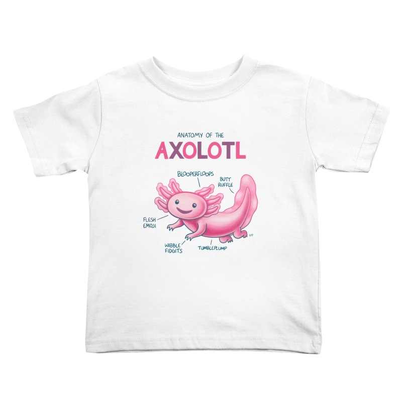 Anatomy of the Axolotl Kids Toddler T-Shirt by Lupi Art + Illustration