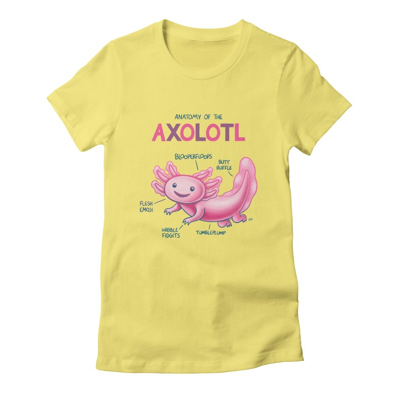 Anatomy of the Axolotl Women's Fitted T-Shirt by Lupi Art + Illustration