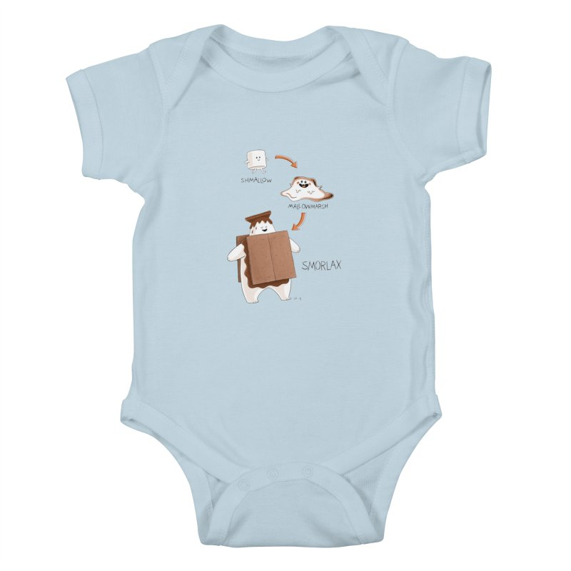 Smorlax Kids Baby Bodysuit by Lupi Art + Illustration