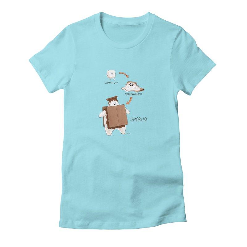 Smorlax Women's Fitted T-Shirt by Lupi Art + Illustration