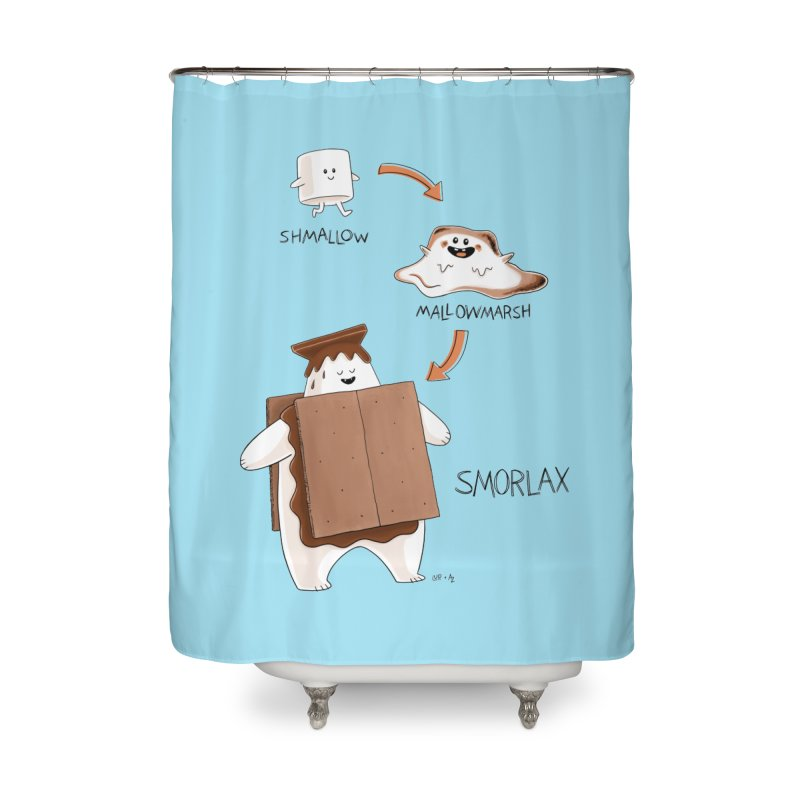 Smorlax Home Shower Curtain by Lupi Art + Illustration