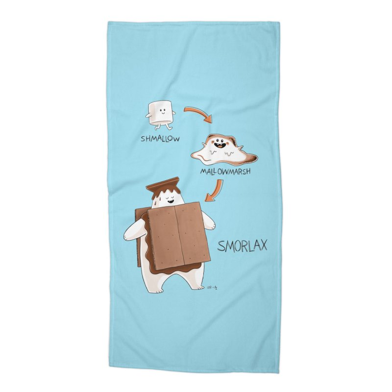 Smorlax Accessories Beach Towel by Lupi Art + Illustration