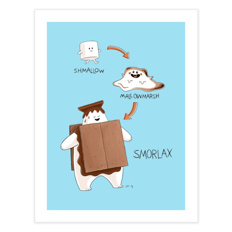 Smorlax Home Fine Art Print by Lupi Art + Illustration