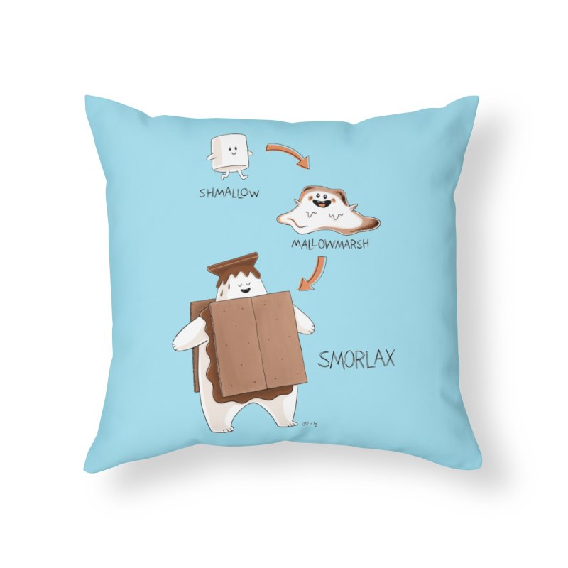 Smorlax Home Throw Pillow by Lupi Art + Illustration