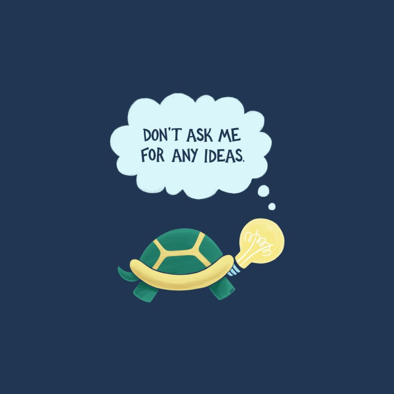 Idea Turtle Home Fine Art Print by Lupi Art + Illustration