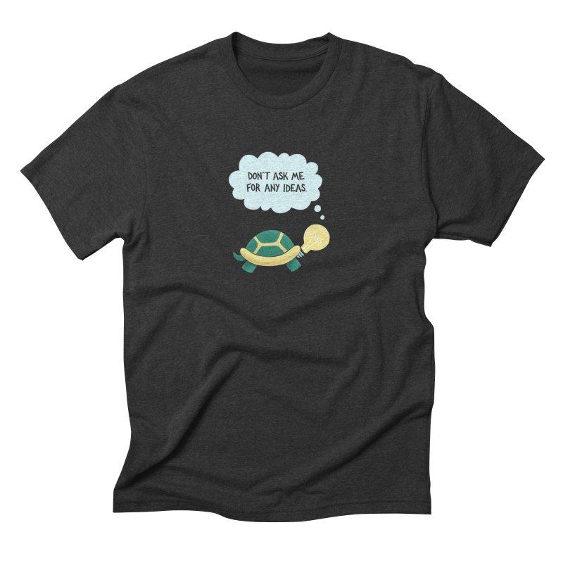 Idea Turtle Men's Triblend T-Shirt by Lupi Art + Illustration