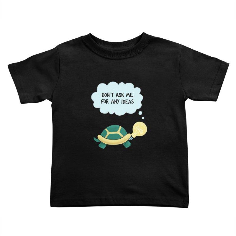 Idea Turtle Kids Toddler T-Shirt by Lupi Art + Illustration