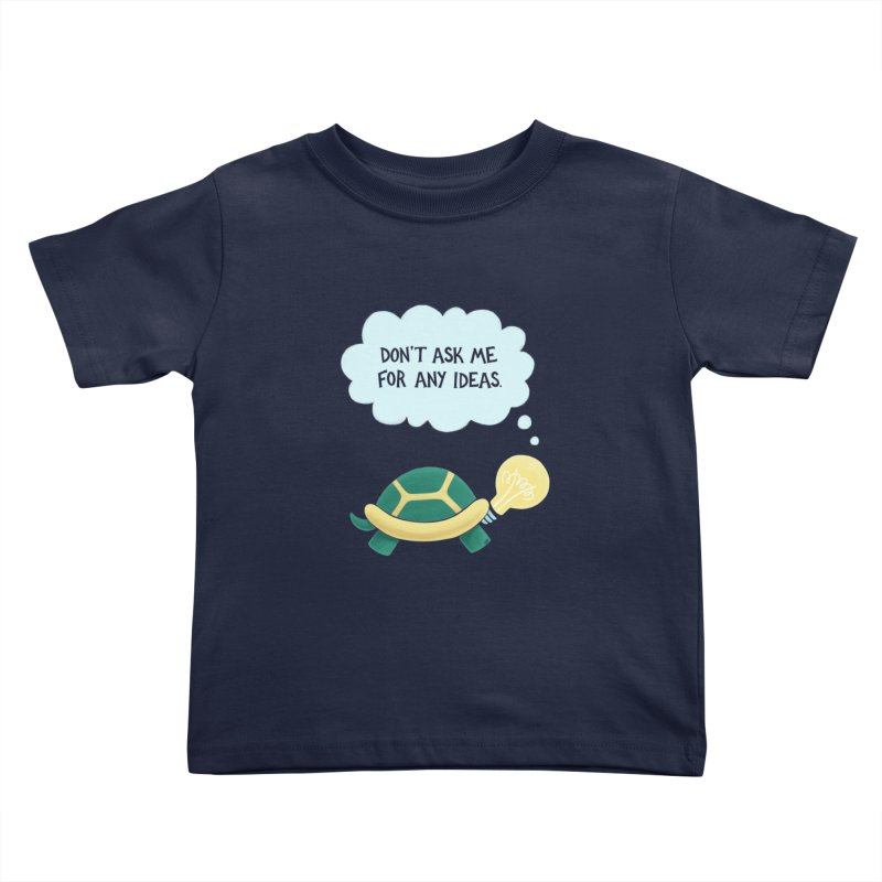 Idea Turtle Kids Toddler T-Shirt by Lupi Art + Illustration