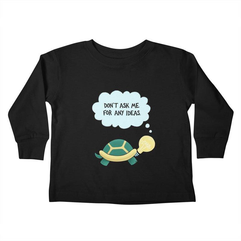 Idea Turtle Kids Toddler Longsleeve T-Shirt by Lupi Art + Illustration