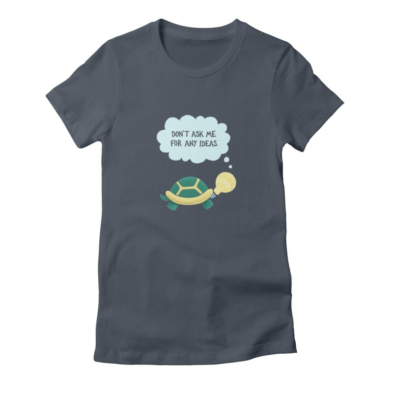 Idea Turtle Women's T-Shirt by Lupi Art + Illustration