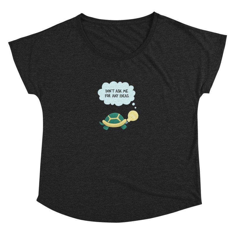 Idea Turtle Women's Dolman by Lupi Art + Illustration