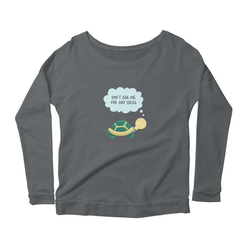 Idea Turtle Women's Longsleeve T-Shirt by Lupi Art + Illustration
