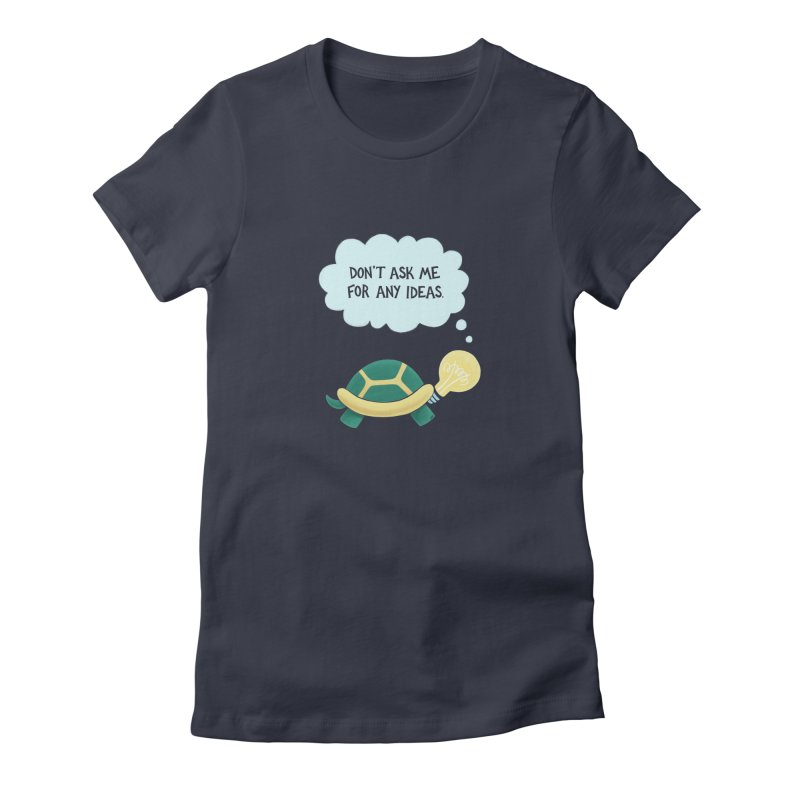 Idea Turtle Women's Fitted T-Shirt by Lupi Art + Illustration