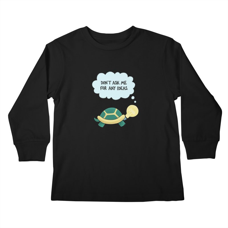 Idea Turtle Kids Longsleeve T-Shirt by Lupi Art + Illustration