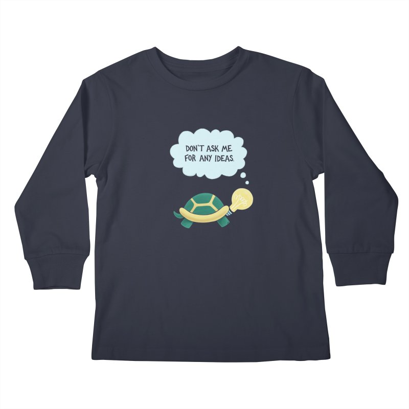 Idea Turtle Kids Longsleeve T-Shirt by Lupi Art + Illustration