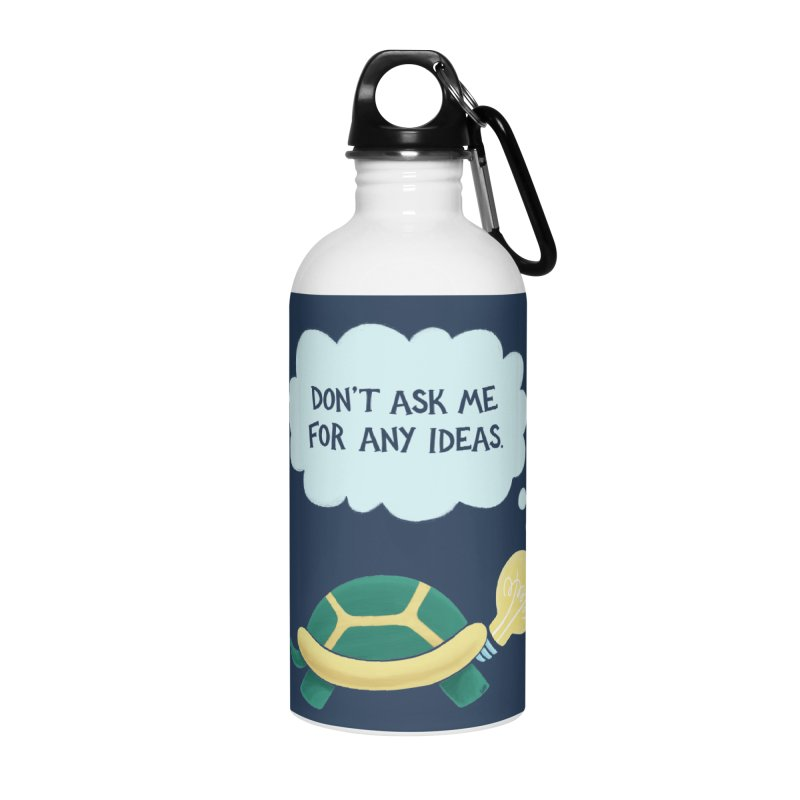 Idea Turtle Accessories Water Bottle by Lupi Art + Illustration