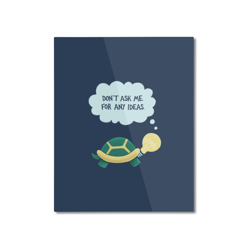 Idea Turtle Home Mounted Aluminum Print by Lupi Art + Illustration