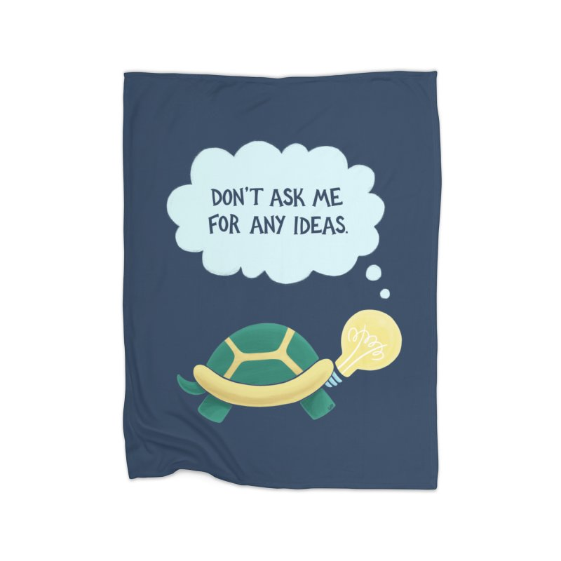 Idea Turtle Home Fleece Blanket Blanket by Lupi Art + Illustration