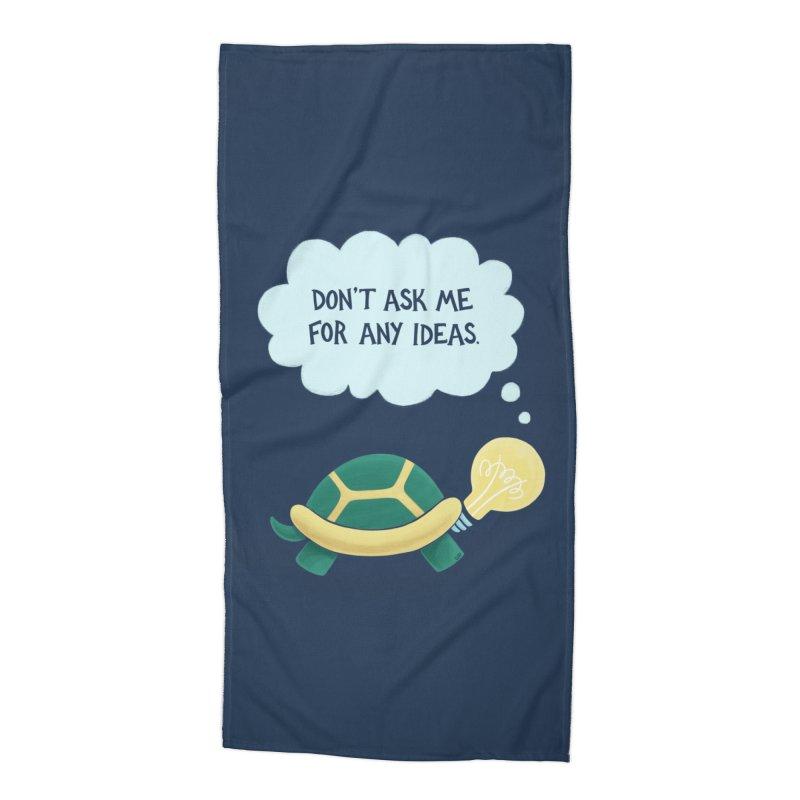 Idea Turtle Accessories Beach Towel by Lupi Art + Illustration