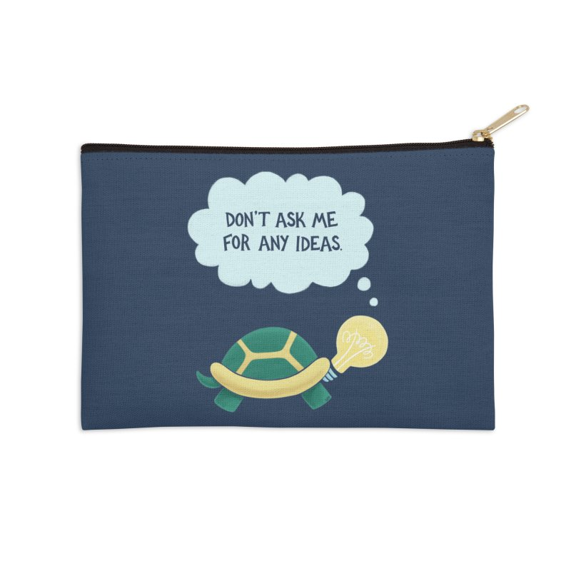 Idea Turtle Accessories Zip Pouch by Lupi Art + Illustration
