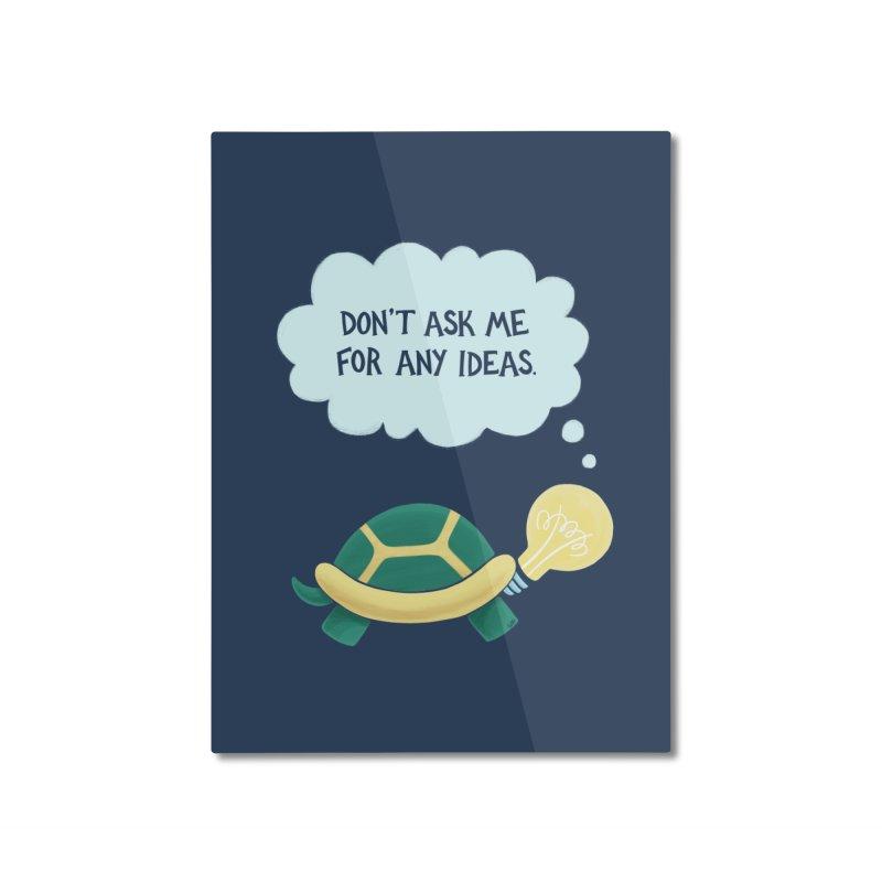 Idea Turtle Home Mounted Aluminum Print by Lupi Art + Illustration